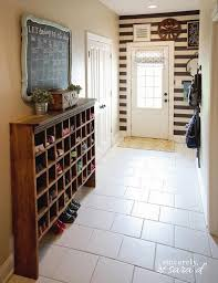 Narrow entryway storage, vintage mail sorter turned shoe cubby, Sincerely  Sara D on @