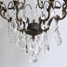 delicate early 1900s brass birdcage chandelier with glass bobeche pans at 1stdibs