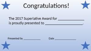 Superlative Certificate Superlative Certificate By Holly Miller Teachers Pay Teachers