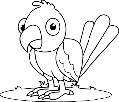 Small Picture Waiting Parrot Coloring Page Wecoloringpage