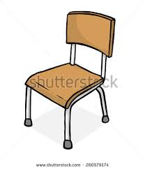 classroom chair clipart. classroom chair / cartoon vector and illustration, hand drawn style, isolated on white background clipart