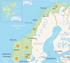 map of norway  norway regions  rough guides  rough guides