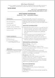 Resume Format For Office Job resume Professional Sample Resume 33