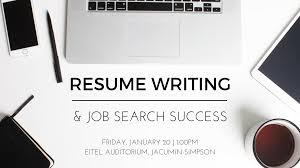 Resume Writing Job Search Workshop Around Southeastern