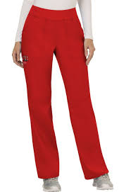 Ww110 Cherokee Workwear Revolution Womens Mid Rise Straight Leg Pull On Pants
