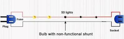 how to fix a string of christmas lights series circuit diagram non functional shunt