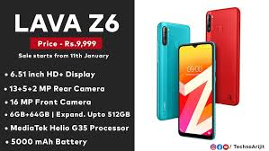 Techno Arijit. - LAVA Z6 Made in India ...