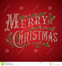 Christmas Card Images Free Embroidered Merry Christmas Card Stock Vector Illustration Of