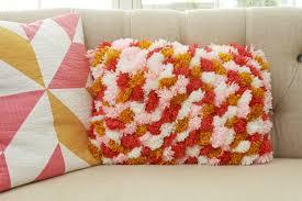 pom pom pillow. Beautiful Pillow Colorful DIY Pom Pillow Inside I