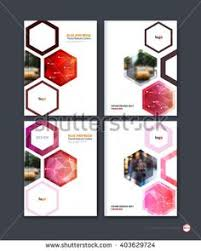 abstract cover design business brochure template layout report booklet in with red hexagonal geometric shapes on polygonal background creative vector