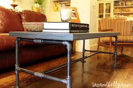 awesome diy concrete coffee table d i y pipe fitting taz and belly tazandbelly com top reddit maker