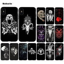 Babaite Satanic <b>Skull</b> dark DIY <b>Printing</b> Special Offer Phone Case ...