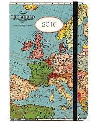 Vintage Map Weekly Planner 2015 Oliver Bonas