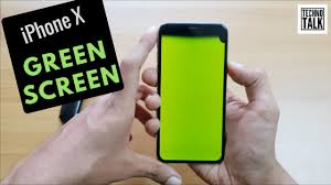 Green Light On Iphone Screen Iphone X Green Screen Issue