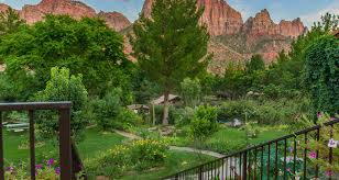 cliffrose lodge gardens. Cliffrose Lodge \u0026 Gardens Is Nestled In The Heart Of Zion Canyon Bordering National Park Along Virgin River. A Truly Serene Riverside Location That I