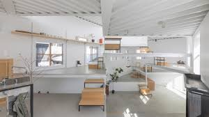 Interior Design Or Architecture Adorable Platform Floors Function As Tables And Shelves Inside House In Miyamoto