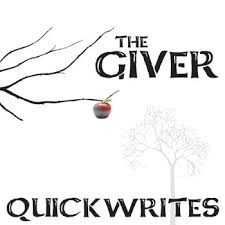 the giver journal quickwrite writing prompts powerpoint giver journal quickwrite writing prompts powerpoint