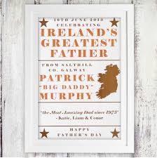 ireland s greatest father personalised poster 380 107 gifts ie