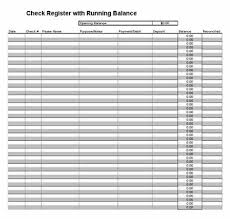 Printable Check Register Checkbook Ledger