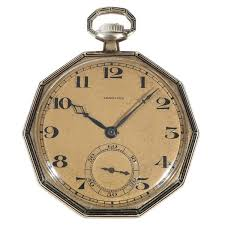antique watches the uk s premier antiques portal online galleries longines yellow gold e l decagon shape open faced pocket watch