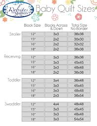Crochet Blanket Size Chart Google Search Quilts Baby