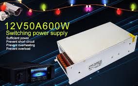 LETOUR Power Supplies <b>12V</b> Power Supply Output <b>50A</b> 600W ...