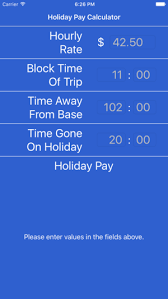 Time And Pay Calculator Holiday Pay Calculator