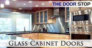 Glass In Kitchen Cabinet Doors Classy Glass Cabinet Doors Save 4848% The Door Stop