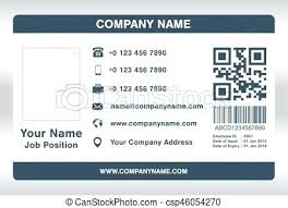 Identification Template Staff Id Card Template