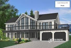 Lakefront home designs & waterfront cottage house plans from