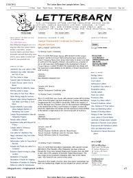 The Letter Barn Free Sample Letters Sample Employment