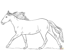 Horse Coloring Sheets With Pages Easy Also Realistic Jumping Kids