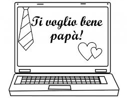 Disegni Da Colorare Gratis Per Bambini Ti Voglio Bene Papà Computeer