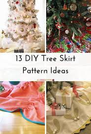 Christmas Tree Skirt Pattern Interesting 48 DIY Tree Skirt Pattern Ideas AllFreeSewing
