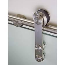 rio stainless steel sliding barn door hardware for glass doors