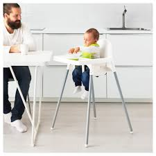 marvelous antilop highchair with tray whitesilvercolour ikea of high chairs that attach to the table popular