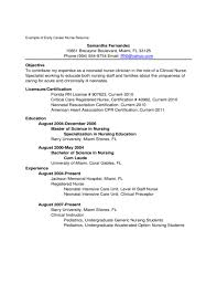 Gallery Of New Grad Rn Resume Examples