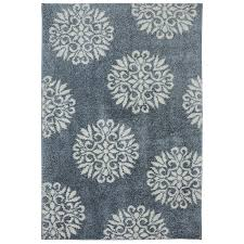 mohawk home exploded medallions slate blue indoor inspirational area rug common 8 x 10