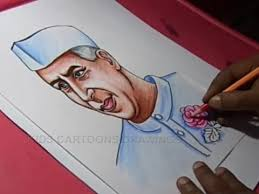How To Make Children S Day Chart How To Draw Childrens Day Nehru Drawing Step By Step