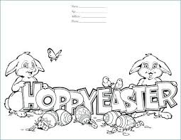 Cute Easter Bunny Coloring Pages Printable Free Fun Easter Coloring