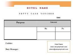 Petty Cash Slip Front Desk Petty Cash Voucher