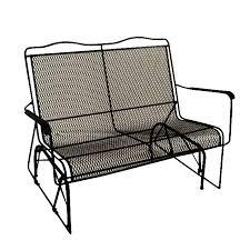 black wrought iron outdoor furniture. Shop Davenport Black Wrought Iron Mesh Patio Loveseat Outdoor Furniture T