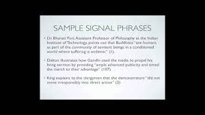 Signal Phrases Parenthetical Citation