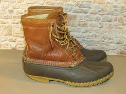 details about ll bean 8 tumbled leather shearling lined bean boots winter snow women s 8 m