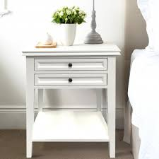 white bedside table 2 drawers
