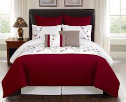 bedroom beautiful red and white queen bedding set ideas queen bed and mattress set