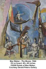 gerald peters gallery presents max weber paintings from the  max weber the muses 1944 oil on board 48 x 48 inches ©