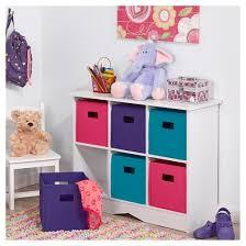 RiverRidge Kids 6 Bin Storage Cabinet White Jewel Tar