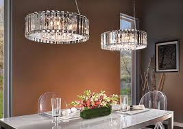 delightful crystal chandelier dining room with round modern awesome homes advantages using