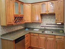 kitchen cabinets with frosted glass door and wall mounted wine racks plus mosaic pattern ceramics backsplashes together with grey color browse smlf